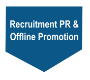 Recruitment PR & offline promotion